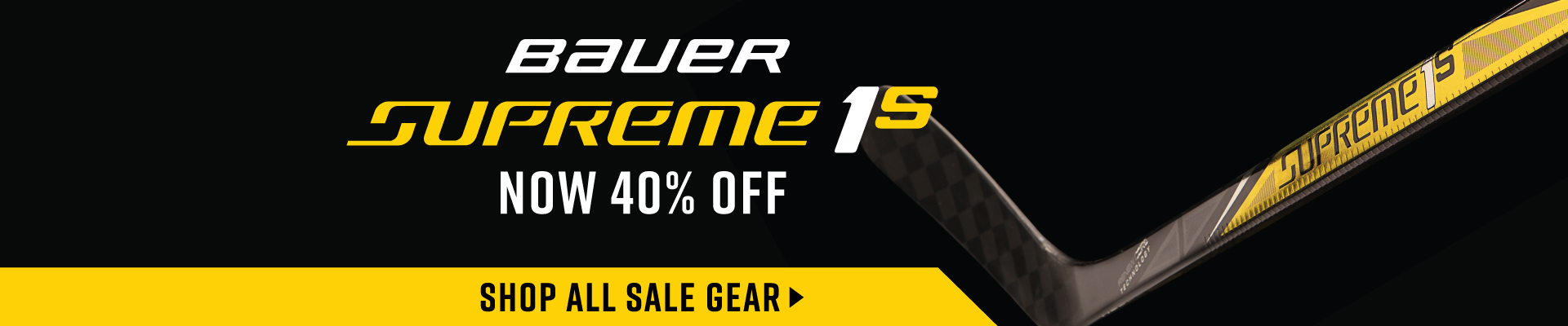 40% Off Bauer Supreme Sticks