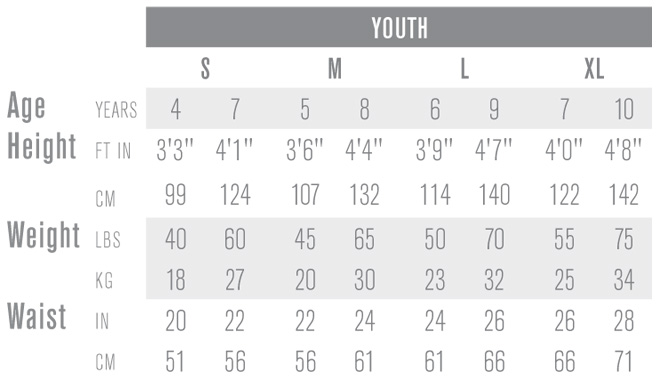 Easton Youth Ice Hockey Pant Sizing